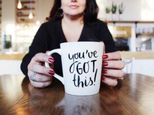 a nice big mug o'whatever makes you feel good.